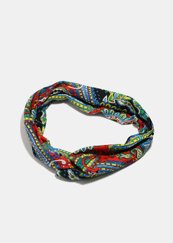 Multi-Color Paisley Stretch Headband