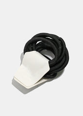 12-Piece Thick Black Hair Ties