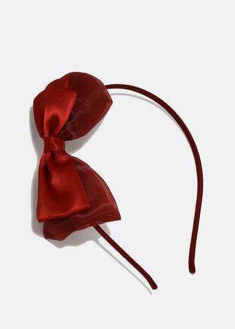 Satin Double Bow Headband