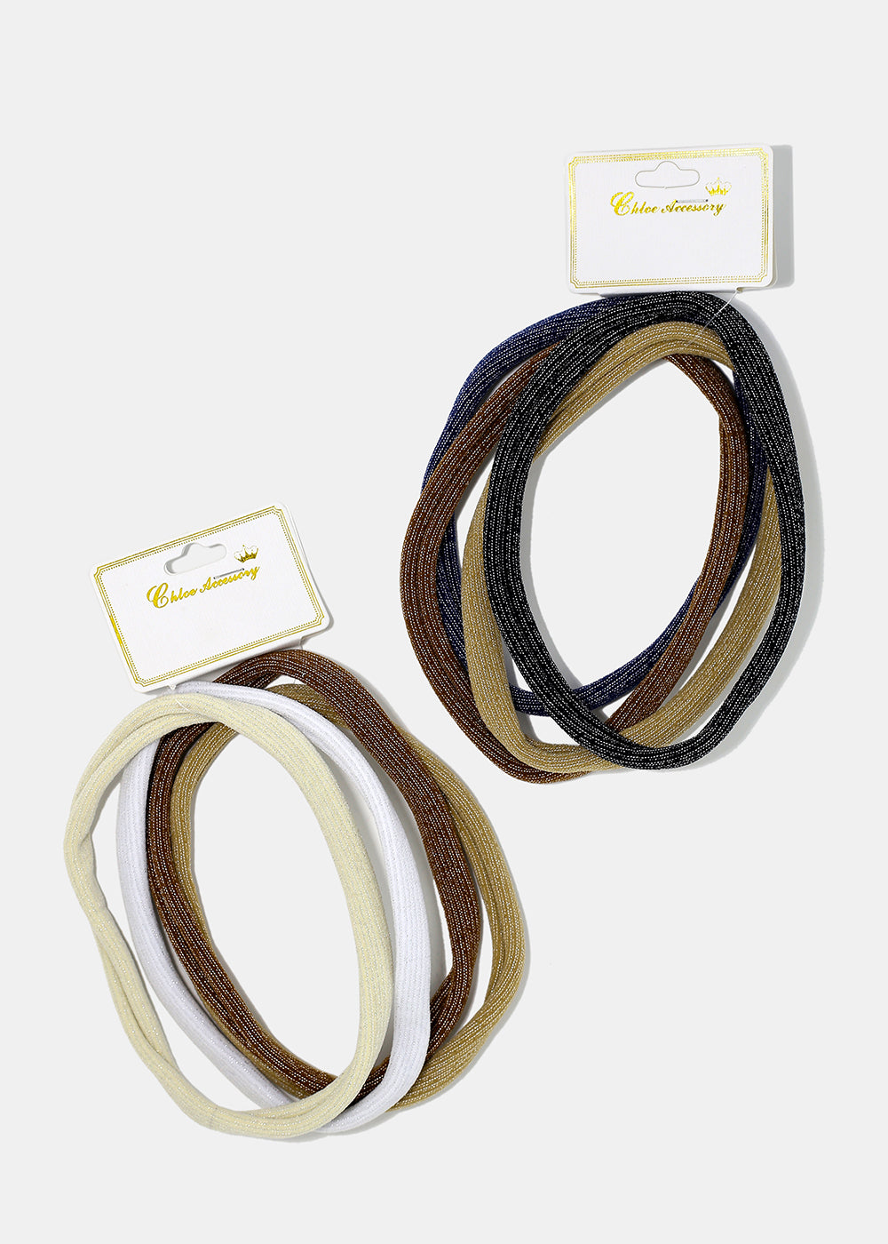 4-Piece Long Neutral Hair Ties