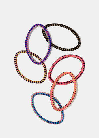 18-Piece Assorted Multi-Color Hair Ties