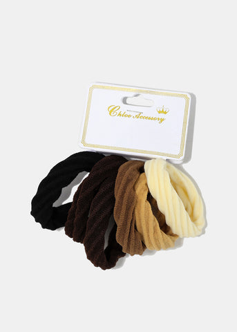 6-Pair Neutral Twist Hair Ties