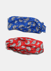 Paisley Print Multi-Use Headwrap