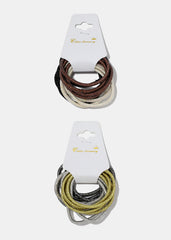 12-Piece Metallic Hair Ties