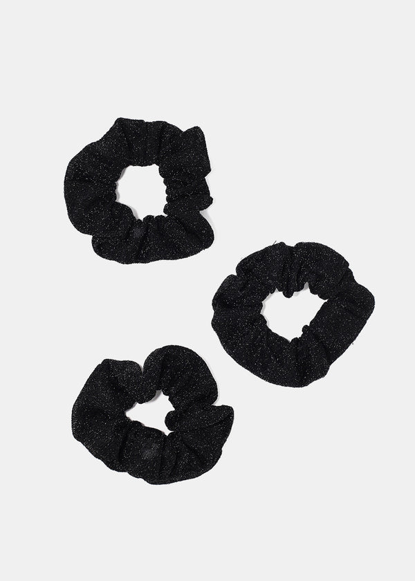 3-Piece Shimmer Scrunchie Set