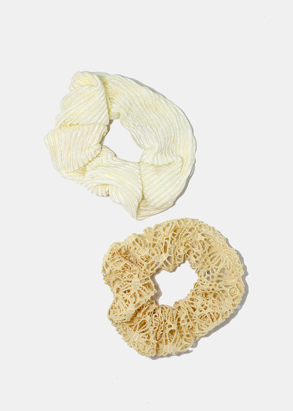 2-Piece Crochet & Ridged Scrunchies