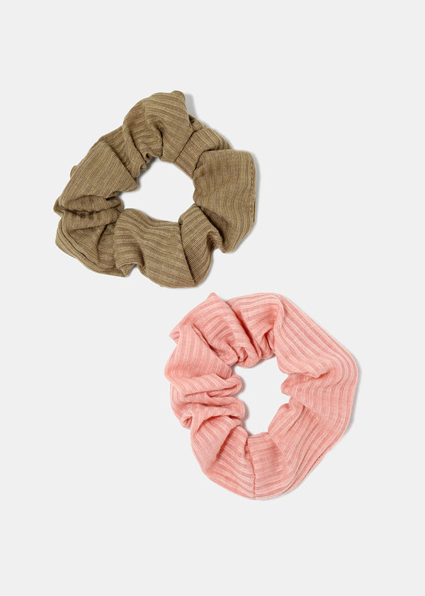 2-Piece Neutral Hair Scrunchies