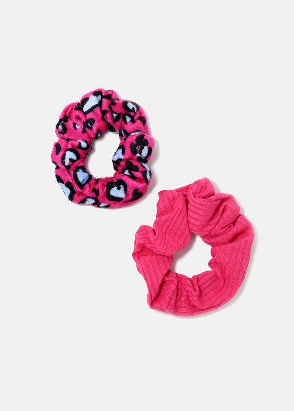 2-Piece Animal Print Scrunchie Set