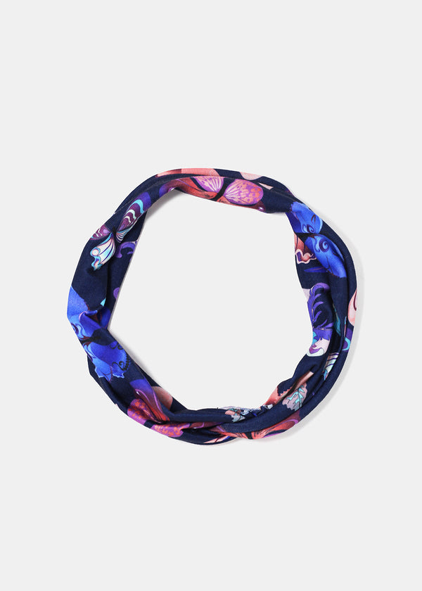 Butterfly Print Twist Knot Headband