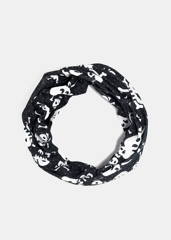 Skull Print Multi-Use Headwrap