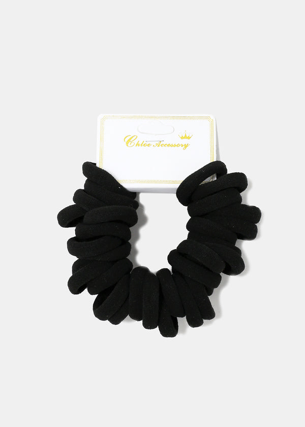 30-Piece Small Black Hair Ties