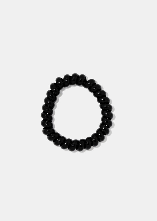 4-Piece Black Spiral Hair Ties