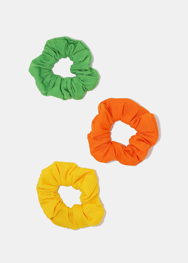3-Piece Multi-Color Scrunchie Set