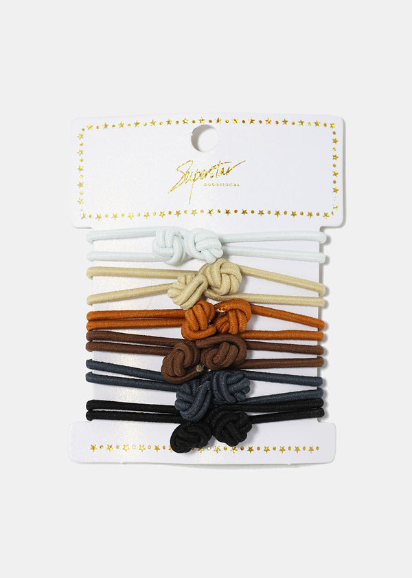6-Piece Double Knot Hair Ties
