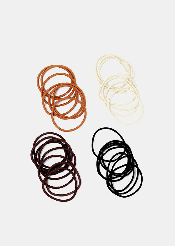 30-Piece Thin Neutral Tone Hair Ties