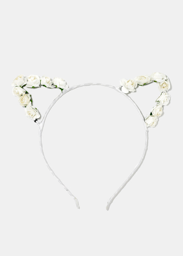 Rosebud Cat Ears Headband