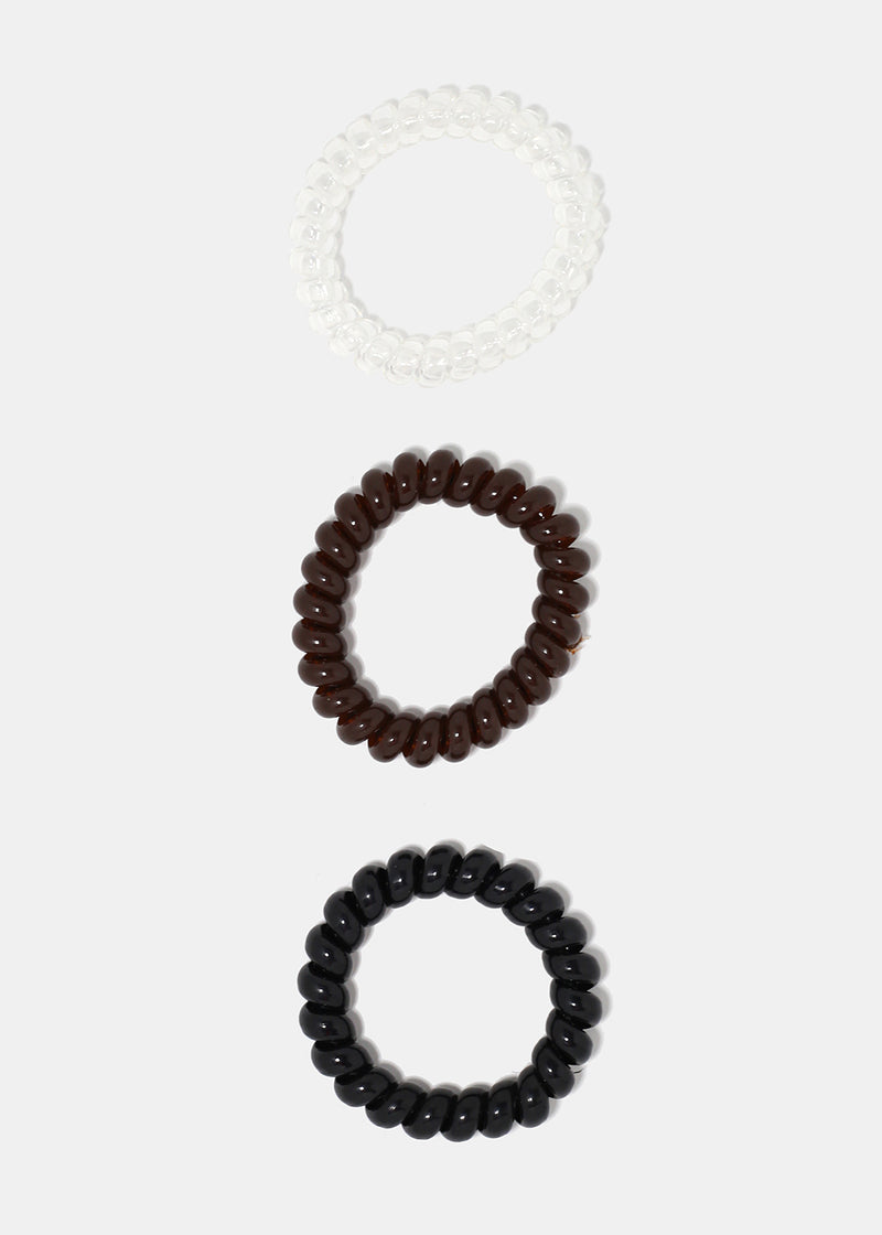 6-Piece Spiral Hair Ties