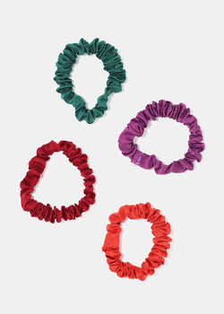 4-Piece Satin Scrunched Hair Ties