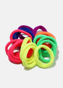 18-Piece Multi Color Soft Hair Ties