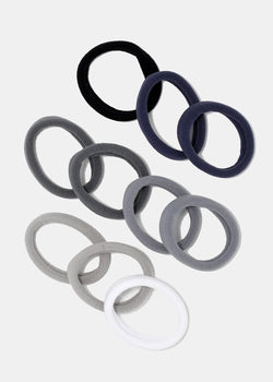 10-Piece Small Grey Tones Hair Ties