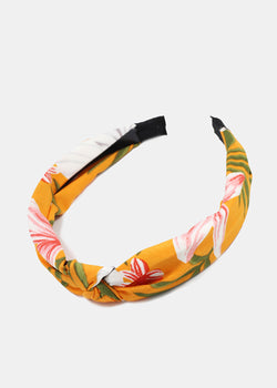 Tropical Flower Print Knotted Headband