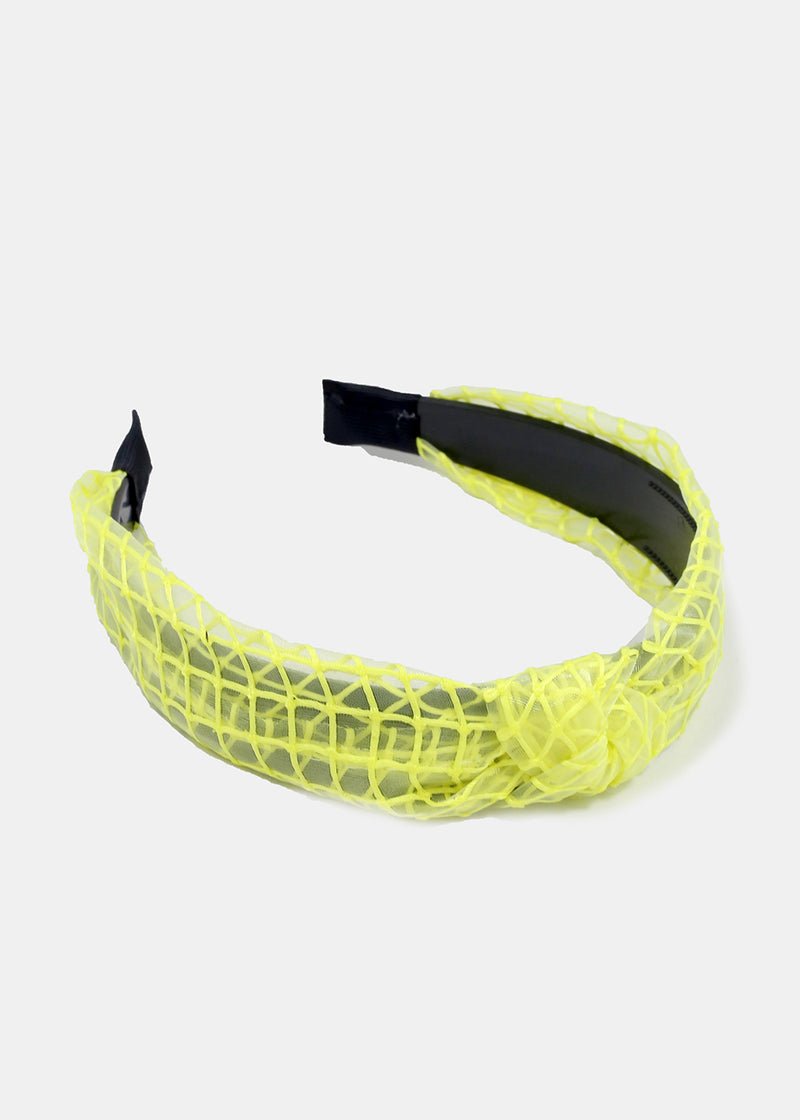 Sheer Grid Pattern Headband