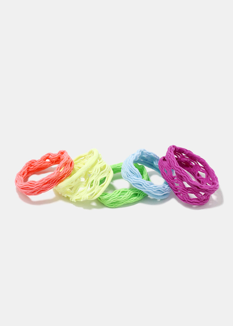5-Piece Mesh Hair Ties