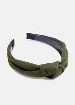 Solid Color Knotted Headband