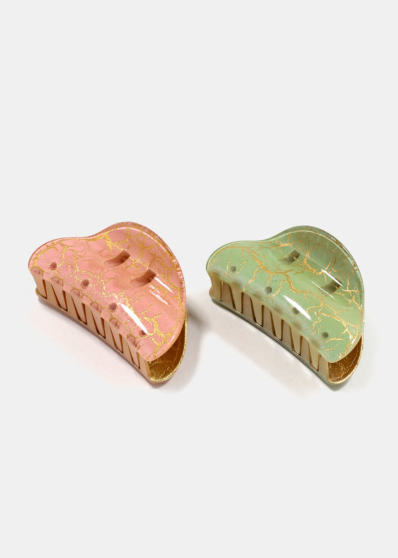 2-Piece Patina Jaw Hair Clips