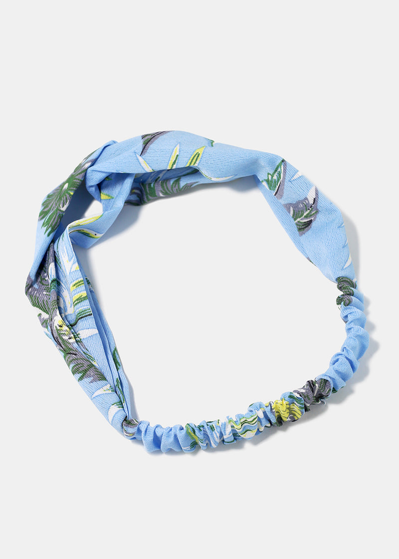 Pineapple Print Twist Knot Headband