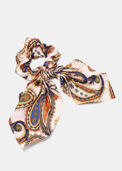 Paisley Print Scarf Scrunchie