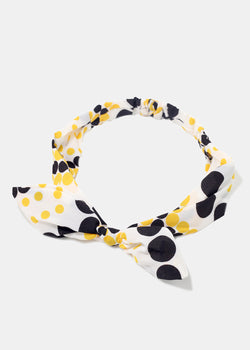 Polka Dot Bunny-Ear Headband