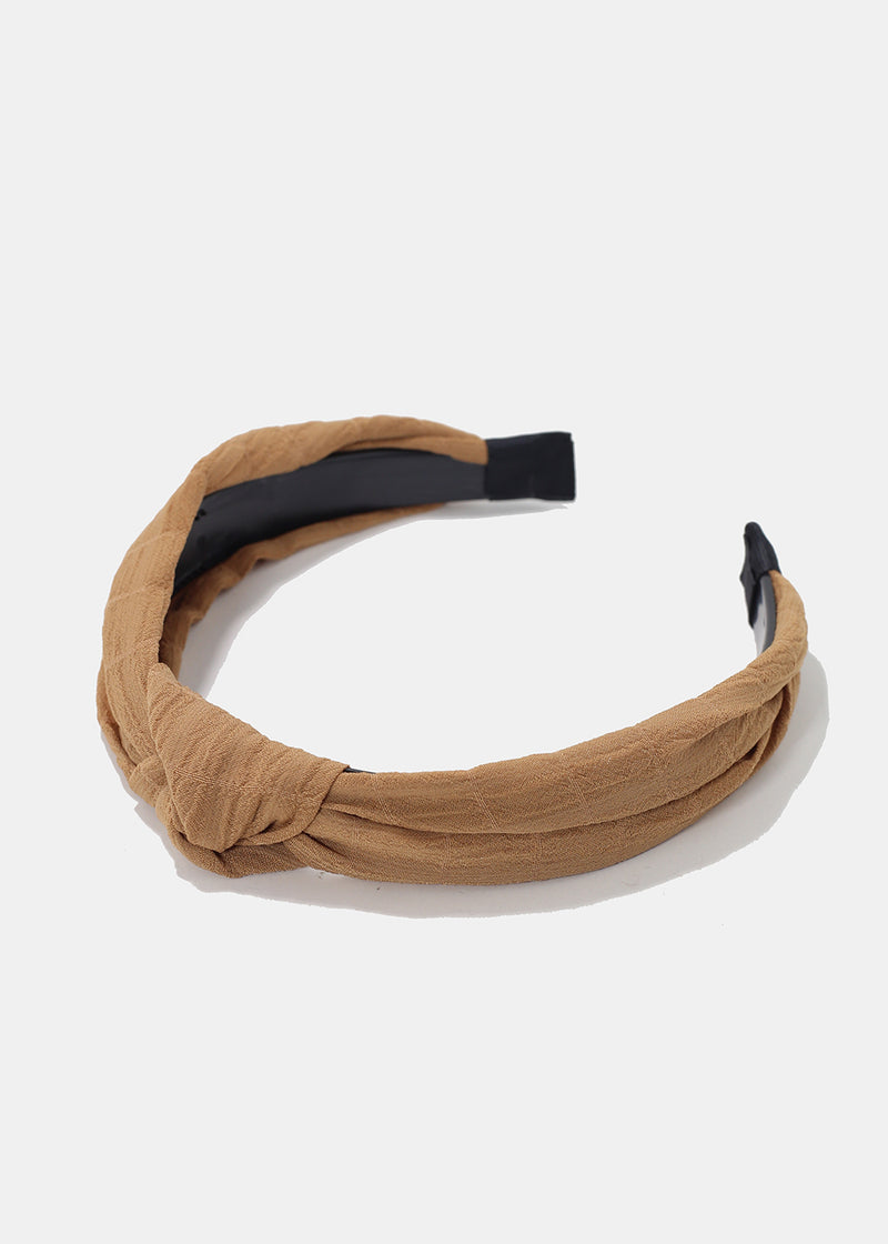 Knotted Ridged Fabric Headband