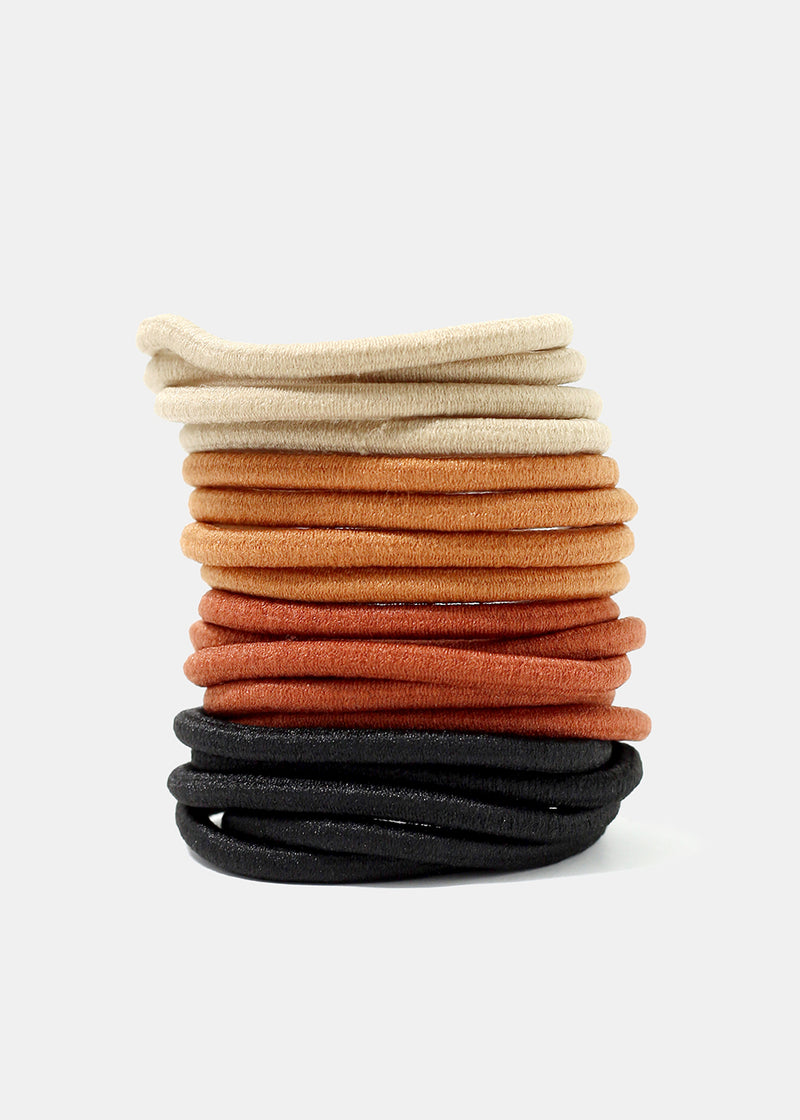 18-Piece Neutral Hair Ties