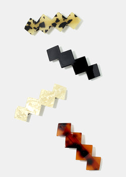 Enamel Diamond Shaped Barrettes