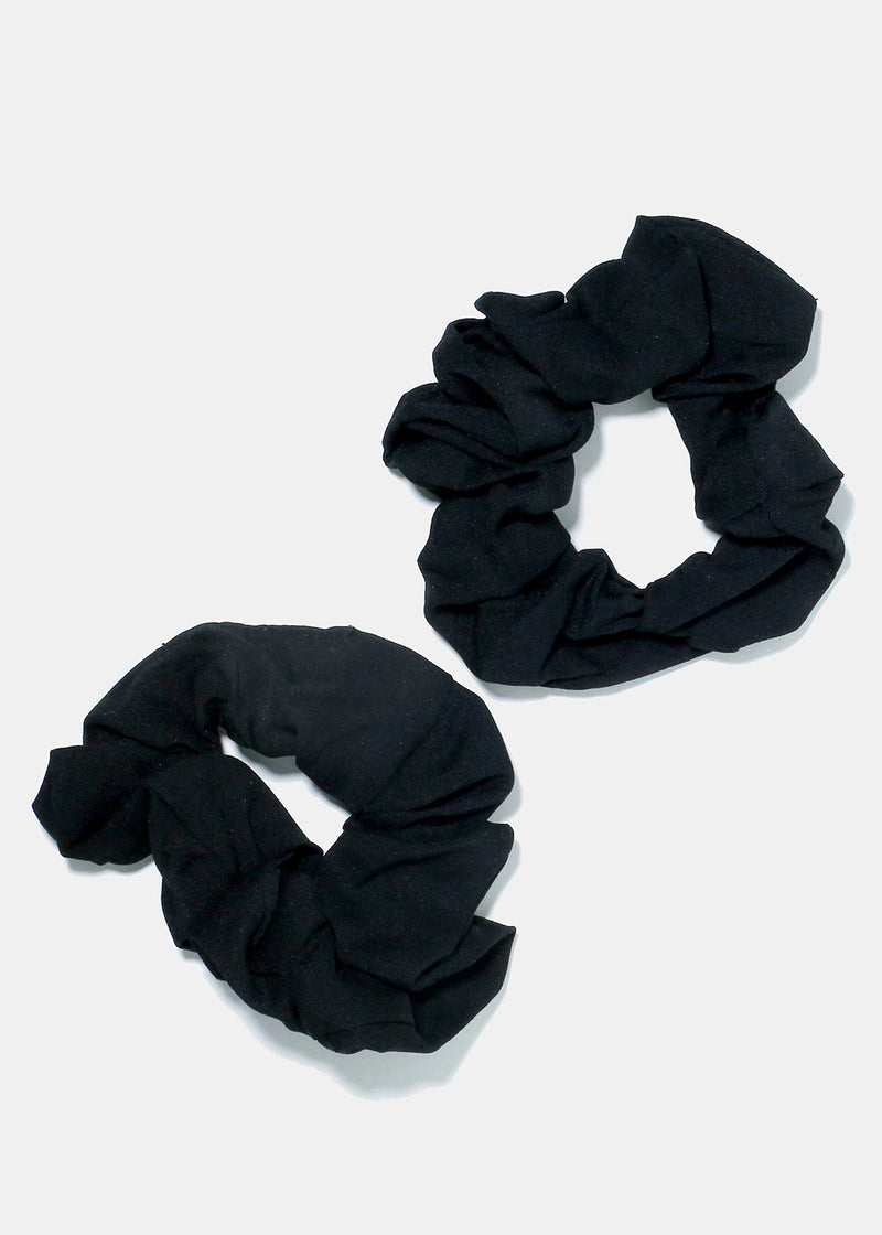 2-Piece Solid Colored Scrunchies