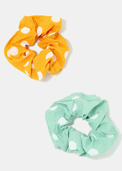 2-Piece Polka Dot Scrunchies Set