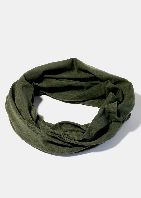 Green Multi-Use Face Covering Scarf