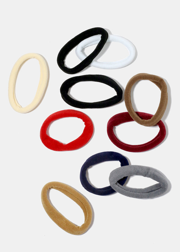 10-Piece Multi Colored Hair Ties