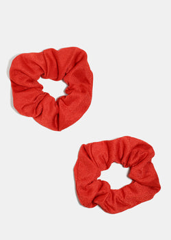 2-Piece Solid Color Scrunchies