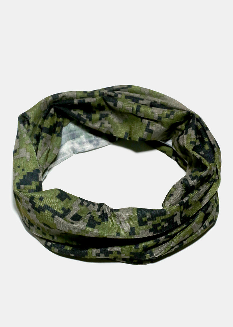 Camo Print Face Covering Neck Gaiter