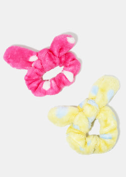 2-Piece Polka Dot Bow Scrunchies