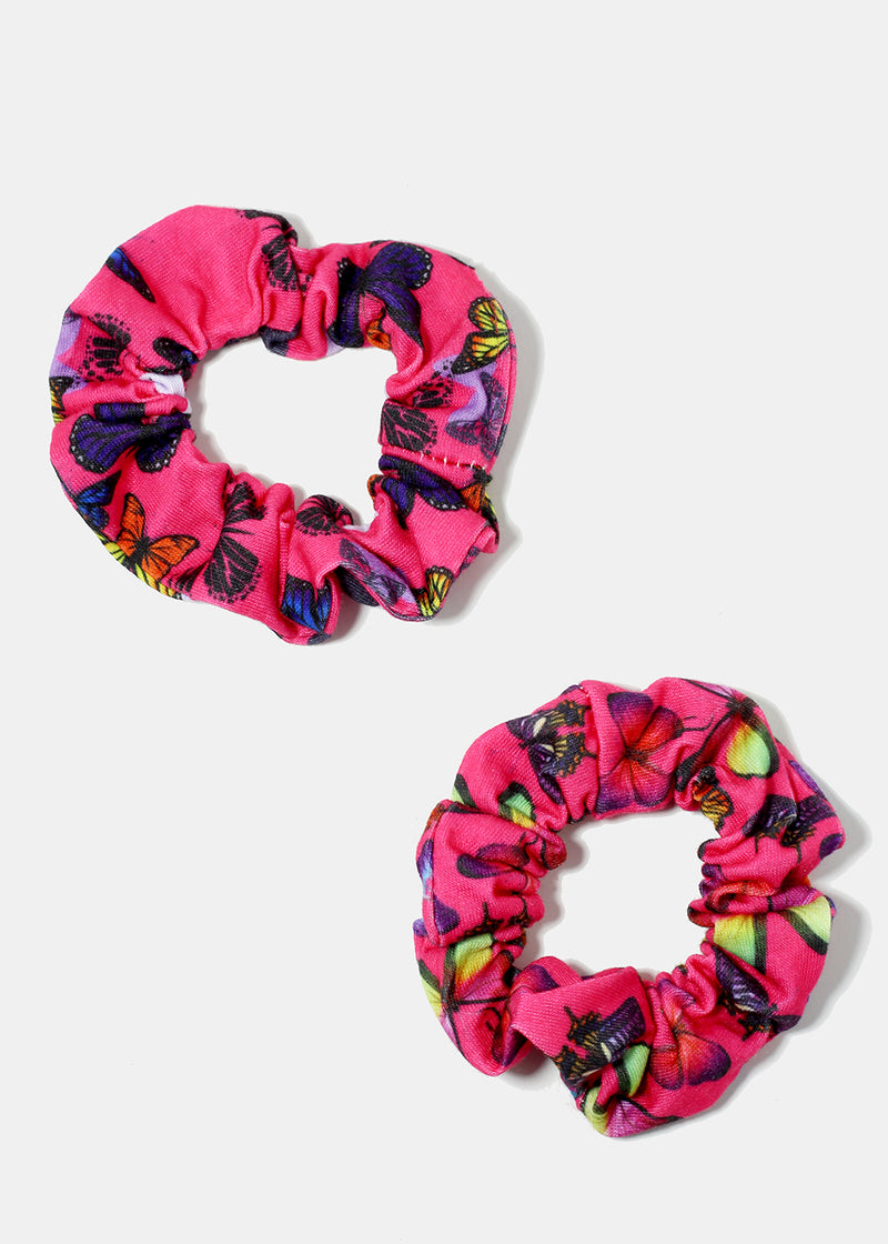 Butterfly Print Scrunchie