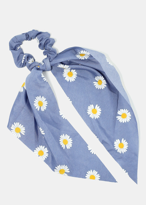 Flower Print Scarf Scrunchie