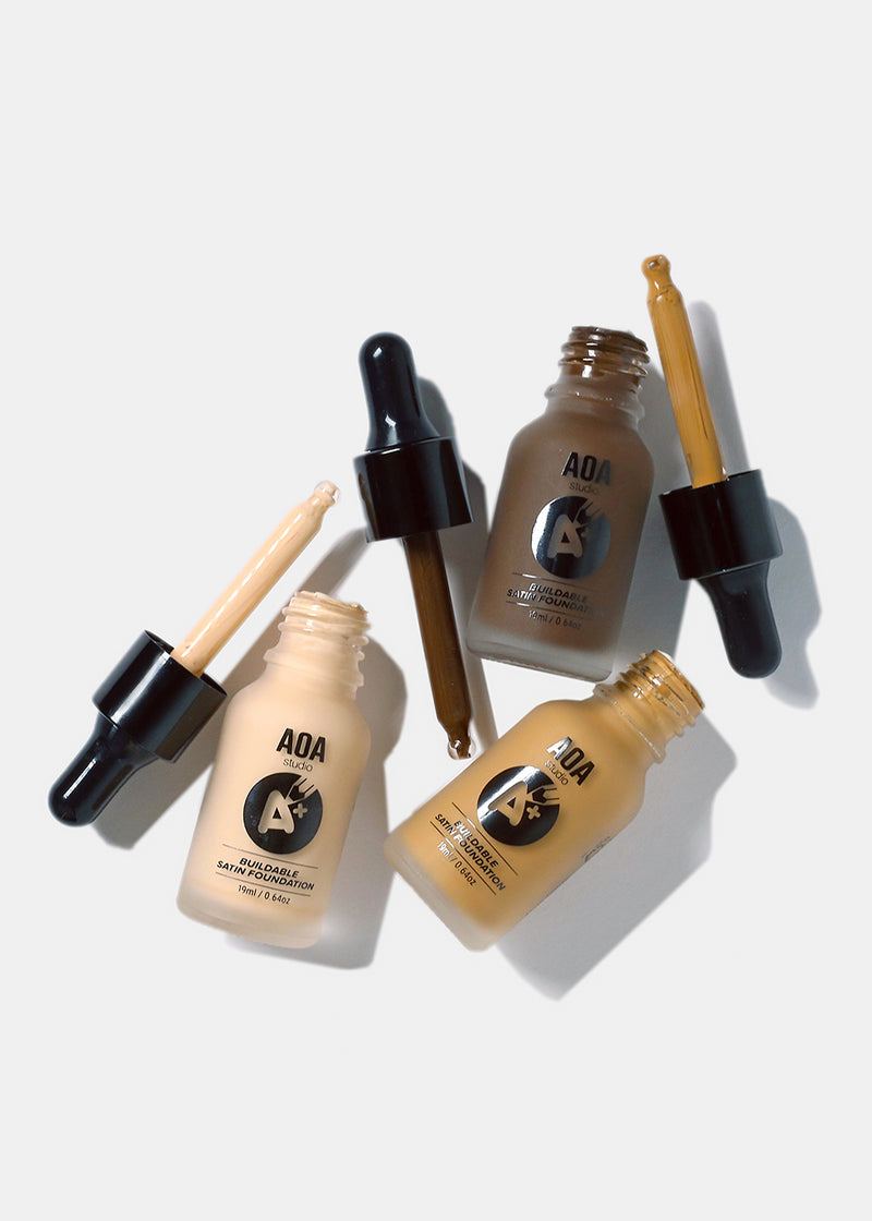 A+: AOA Drop Liquid Foundation- Medium Tones