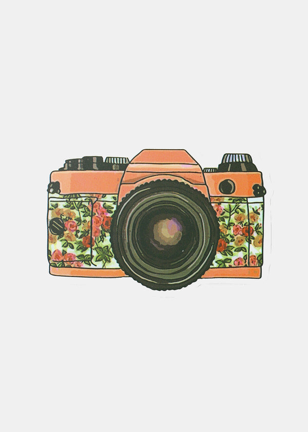 Oki Sticker- Flower Camera