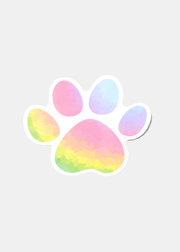 Oki Sticker- Watercolor Paw
