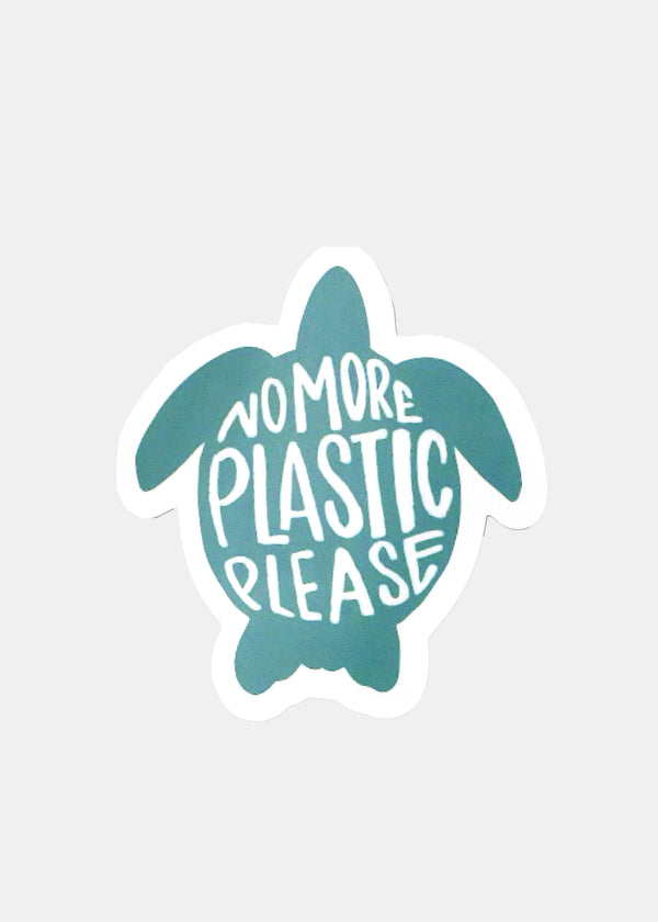 Oki Sticker- No More Plastic