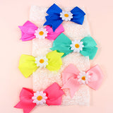 Bow Headband with Sunflower