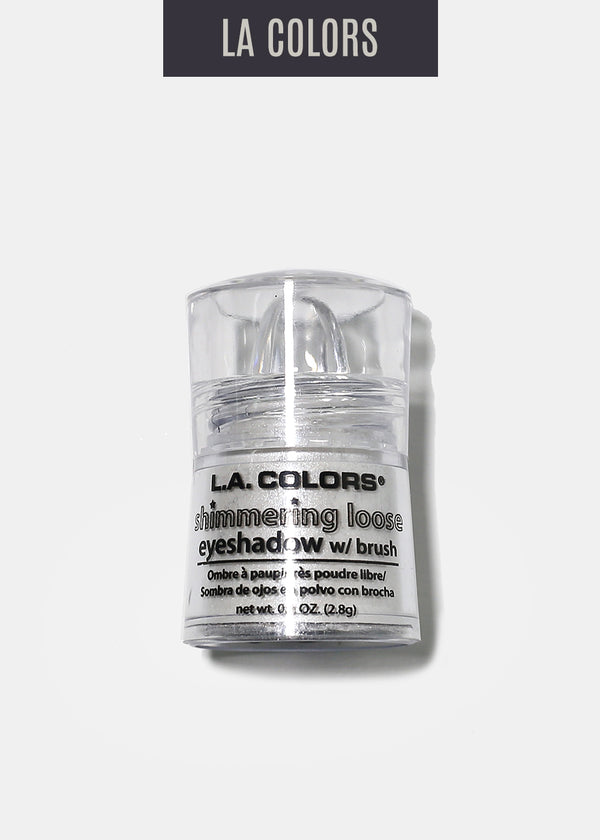 L.A. Colors - Shimmering Loose Eyeshadow - Snow White